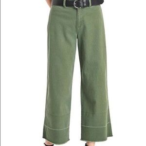 GAP Wide Leg Crop High Rise Chino Monterey Cypress